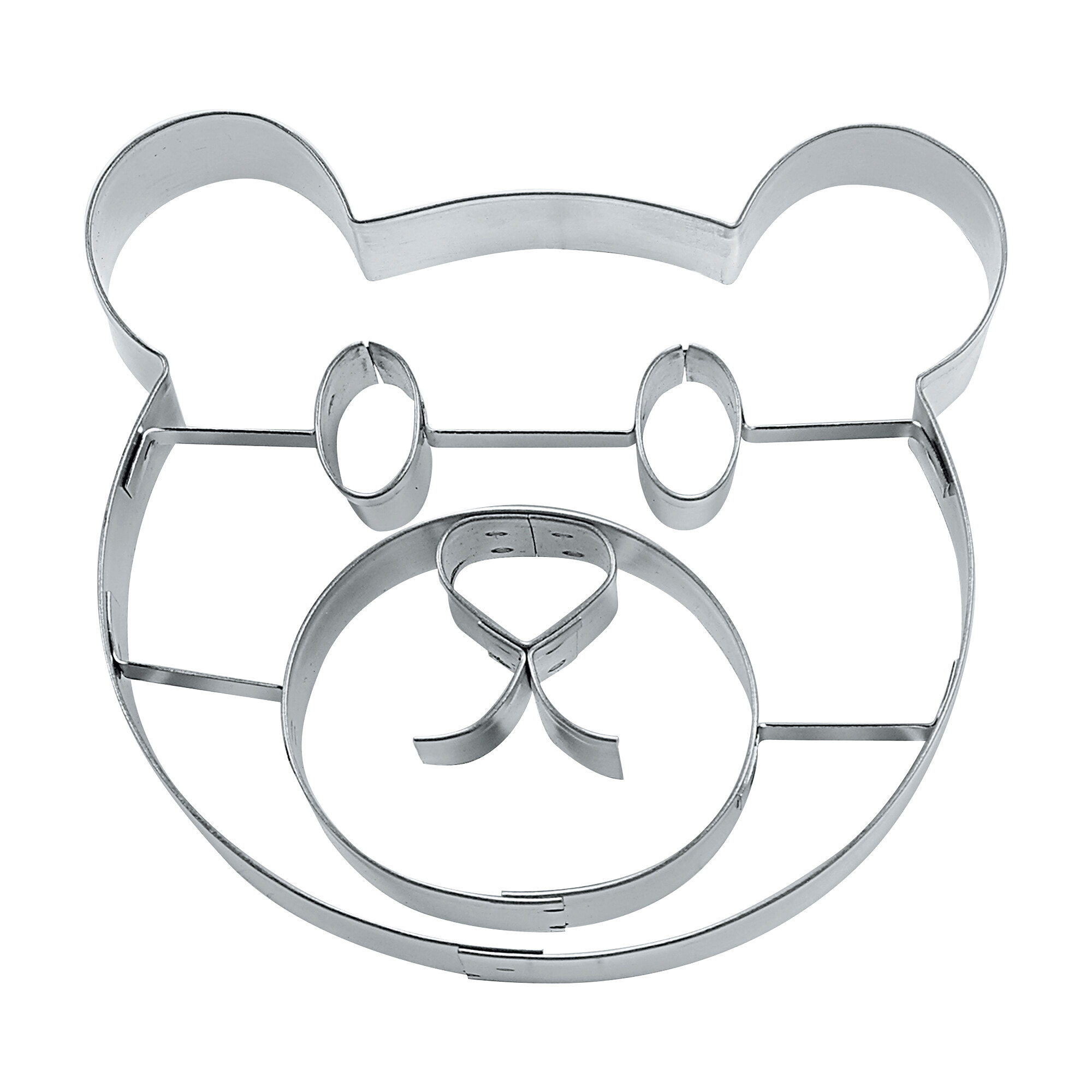 Cookie cutter with stamp - Teddy bear face