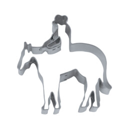 Ausstecher - Reiter mit Pferd / Cowboy
