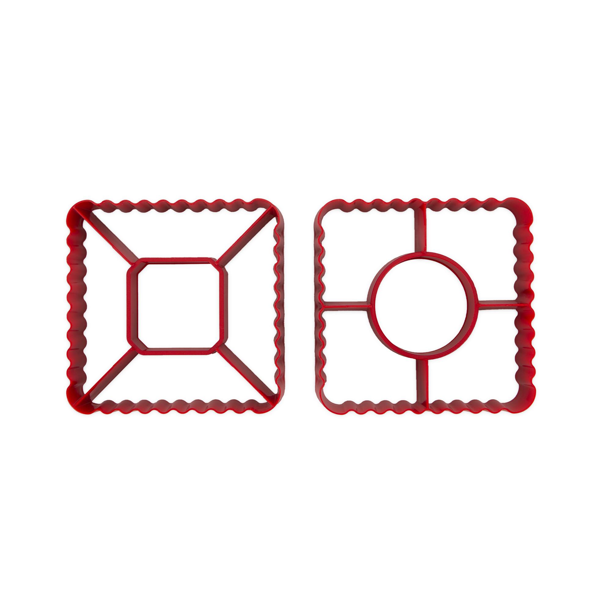 Ausstecher - Blätterteig - Pyramide / Windrad - 2 Stück