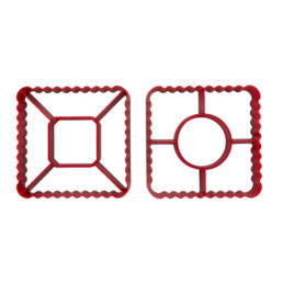 Cookie Cutter - Puff Pastry - Pyramid / Windmill - 2 pieces