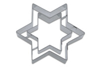 Cookie cutter with stamp - Star