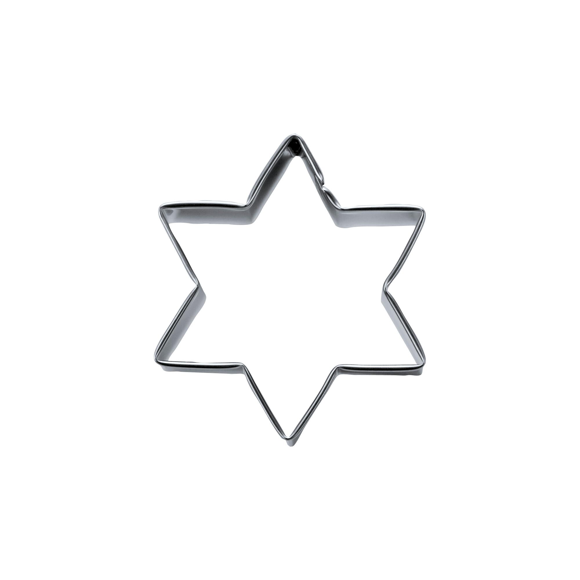 Ausstecher - Stern - 6-zackig