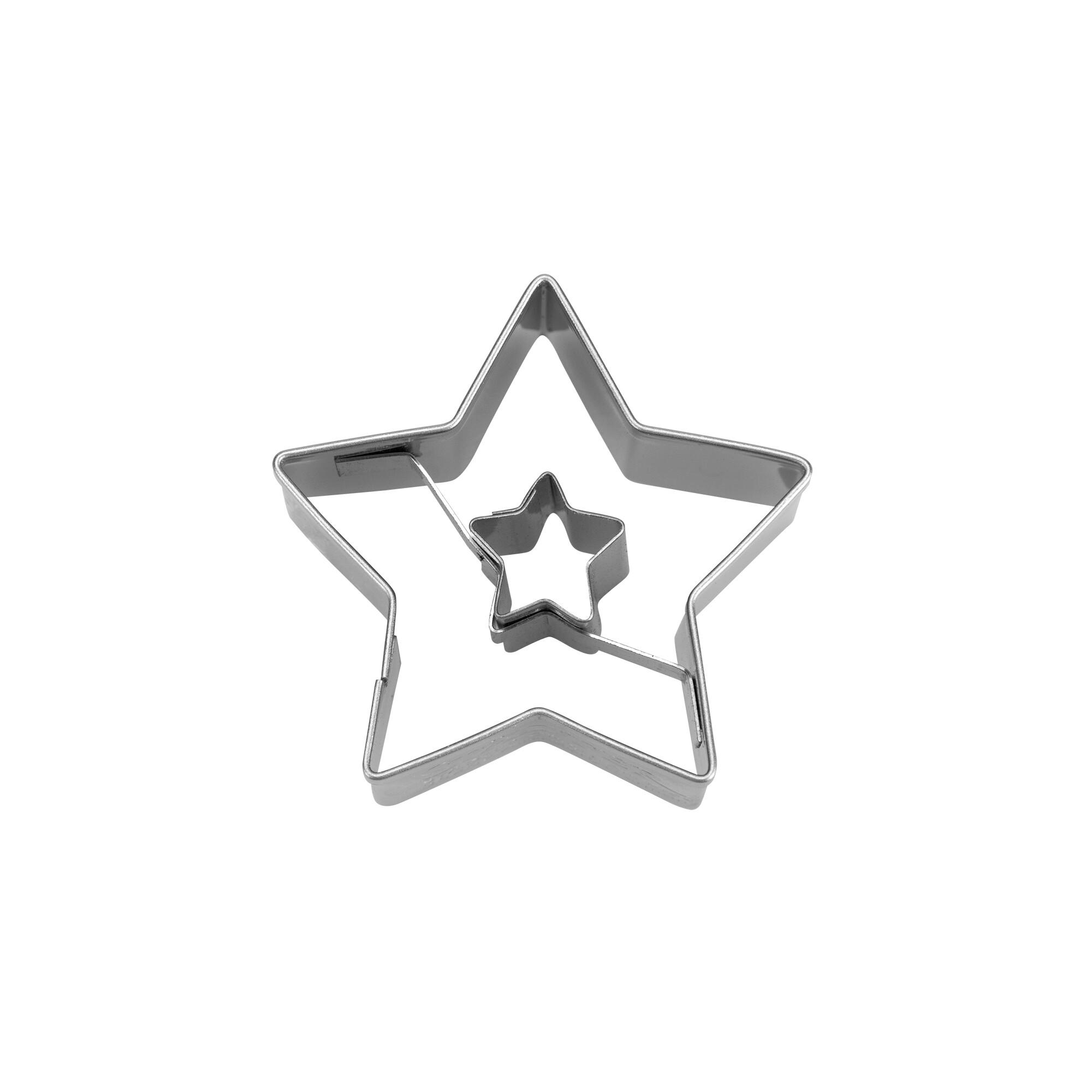 Ausstecher - Stern in Stern