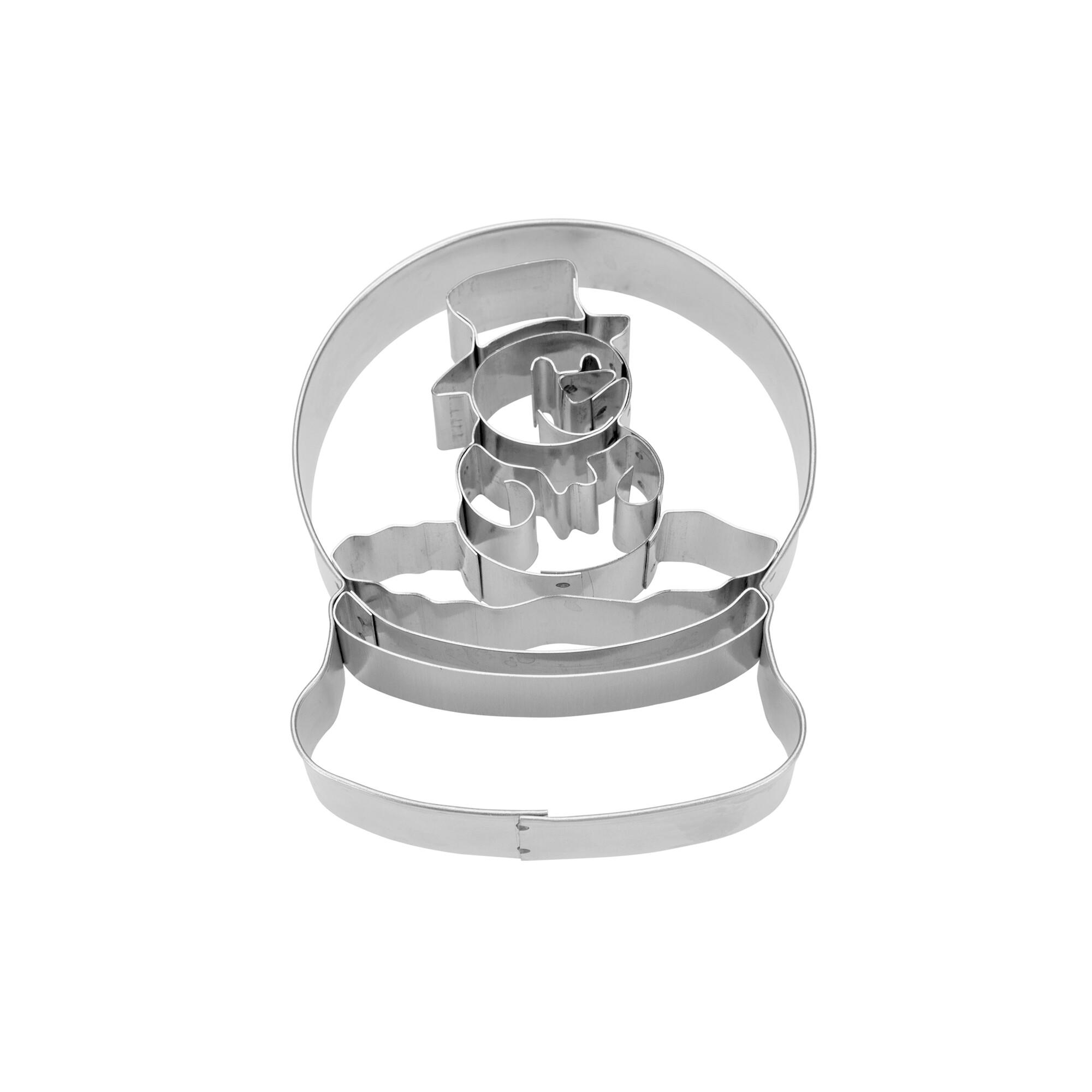 Präge-Ausstecher - Schneemann Glaskugel