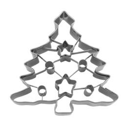 Ausstecher - Tannenbaum - mit Stern- und Kreis-Aussparung