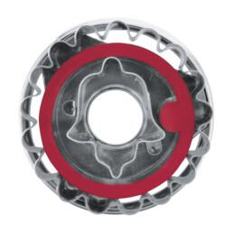 Linzer-Ausstecher mit Auswerfer - Linzer Glocke - zerlegbar