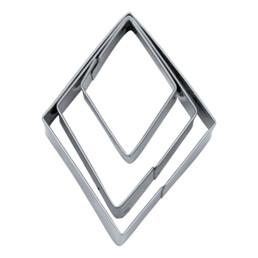 Terrassen-Ausstecher - Rhombus - glatt - Set, 3-teilig