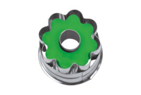 Linzer cookie cutter with ejector - 8s rosette - not demountable