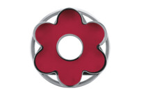Linzer cookie cutter with ejector - 6s rosette - demountable