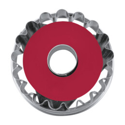 Linzer-Ausstecher mit Auswerfer - Welser-Ringerl 1-Loch - zerlegbar