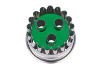 Linzer cookie cutter with ejector - Linz 3 hole - not demountable