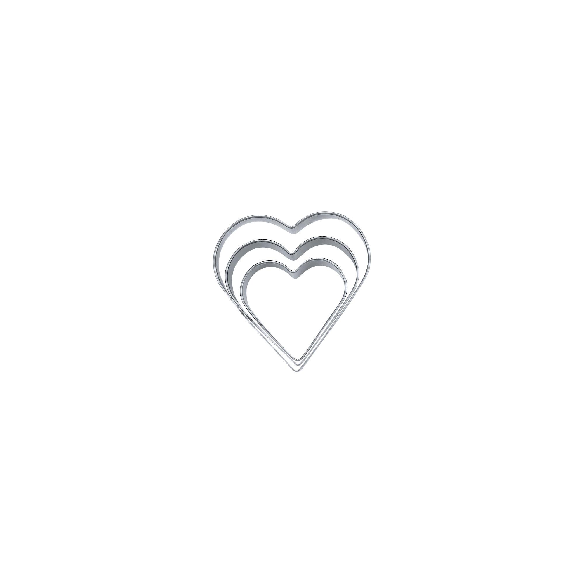 Heart - smooth - Set 3 parts