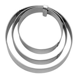 Terrassen-Ausstecher - Ring - glatt - Set 3-teilig