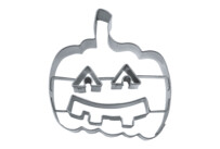 Cookie cutter with stamp - Pumpkin with face / Halloween pumpkin