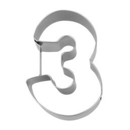 Ausstecher - Zahl 3