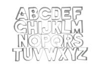 Ausstecher - Buchstaben - Set, 26-teilig