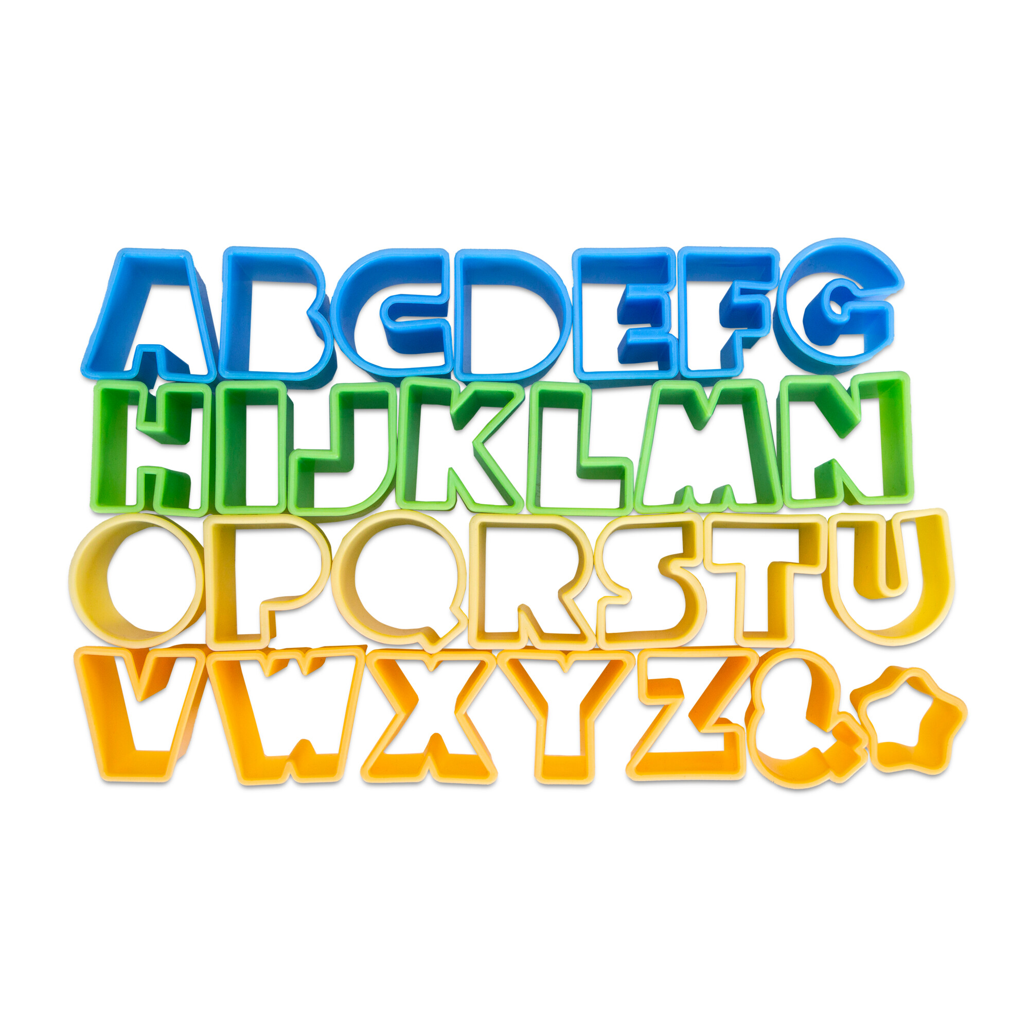 Cookie Cutter - Alphabet - Set, 28 parts