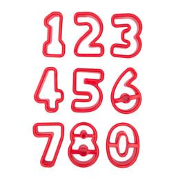 Ausstecher - Zahlen - Set, 9-teilig