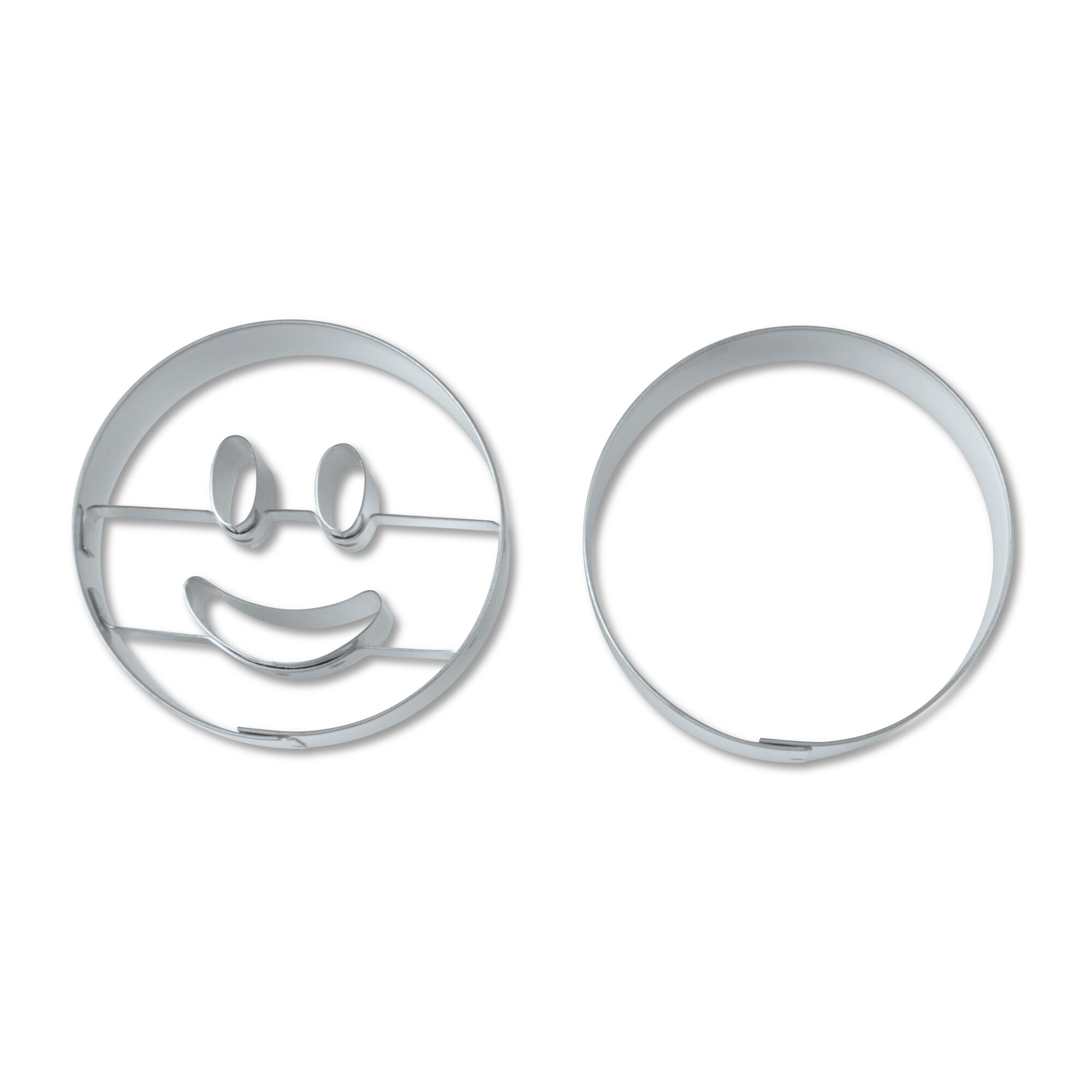 Cookie cutter with stamp - Laughing circle - Set, 2 parts