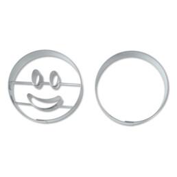 Präge-Ausstecher - Lachender Kreis - Set, 2-teilig