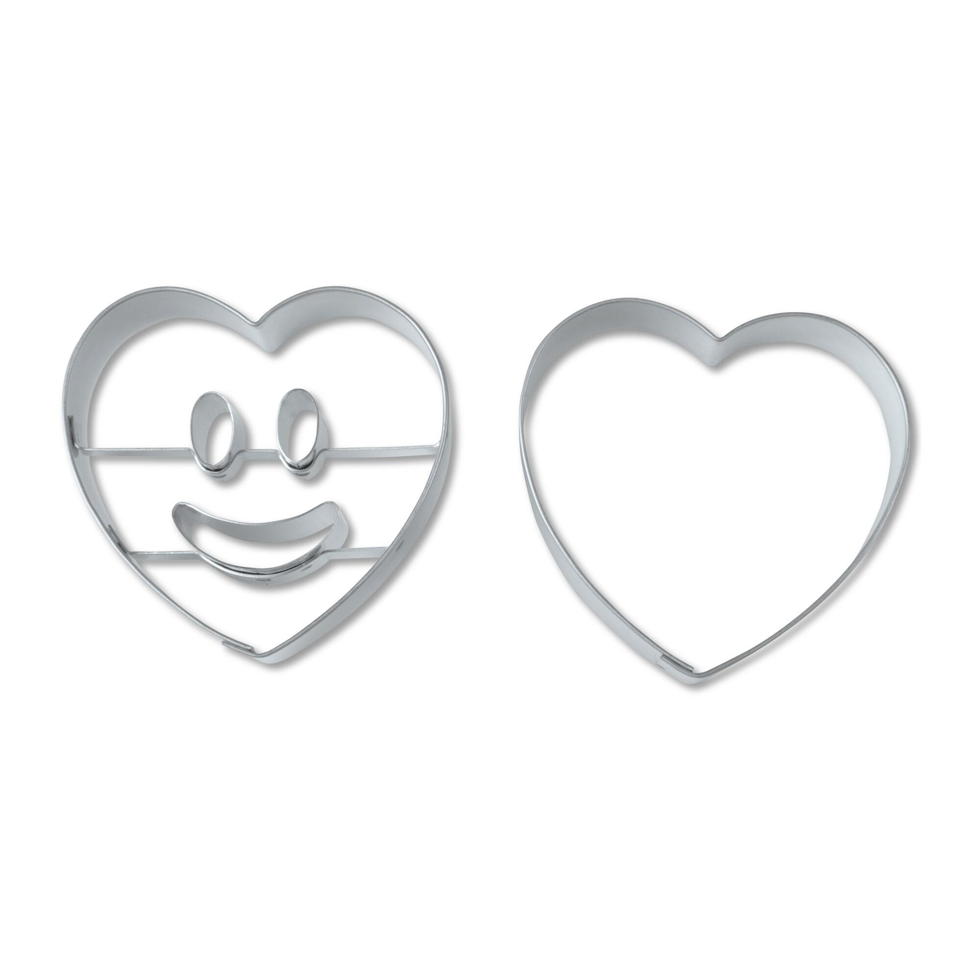 Präge-Ausstecher - Lachendes Herz - Set, 2-teilig