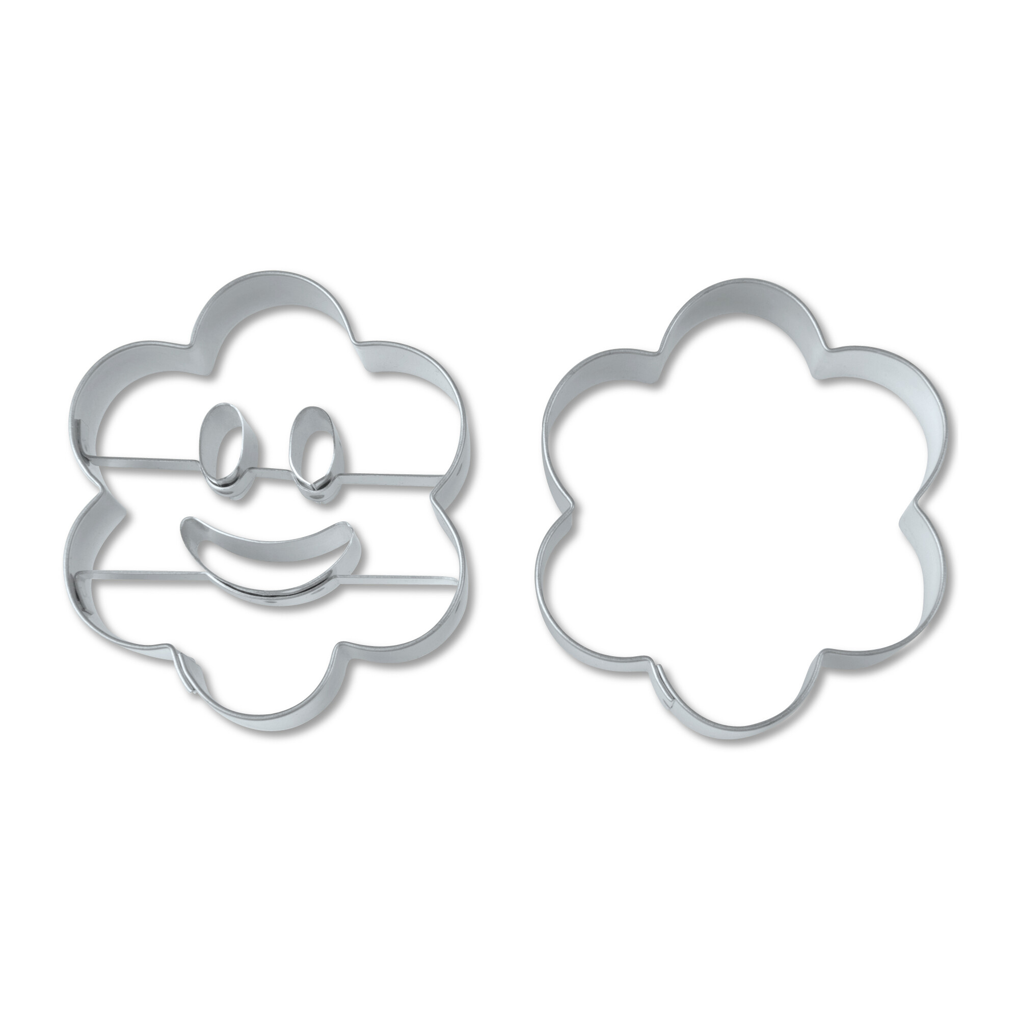 Cookie cutter with stamp - Laughing flower - Set, 2 parts