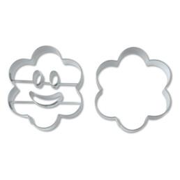 Präge-Ausstecher - Lachende Blume - Set, 2-teilig