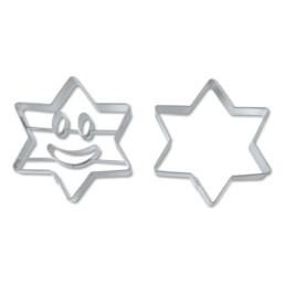Präge-Ausstecher - Lachender Stern - Set, 2-teilig