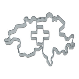Cookie Cutter - Contour Switzerland with cross