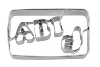 Cookie cutter with stamp - ABI