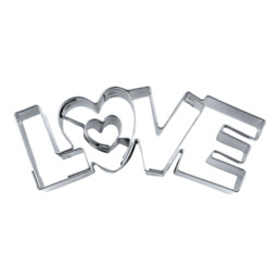 Cookie cutter with stamp - Love