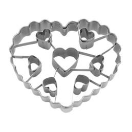 Cookie Cutter - Heart - with 7 heart inner cutter