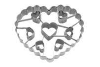 Ausstecher - Herz - mit 7 Herz-Aussparungen