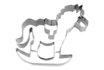 Cookie cutter with stamp - Rocking horse