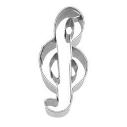 Cookie cutter with stamp - Clef