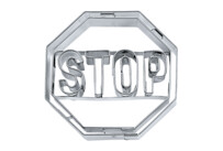 Cookie cutter with stamp - Stop sign