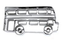 Cookie cutter with stamp - Double-deck bus