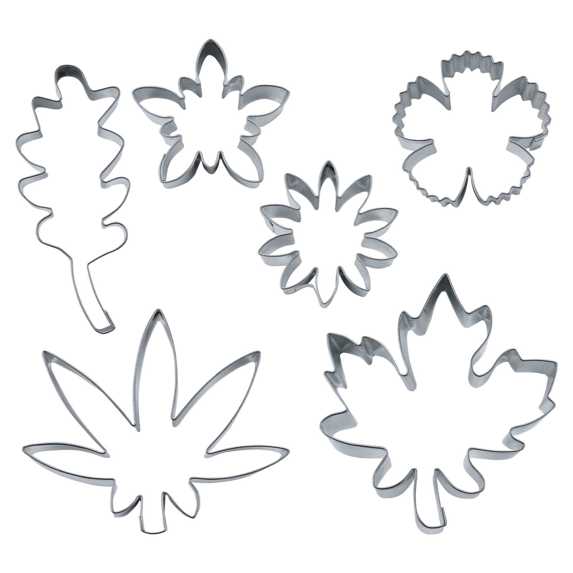 Cookie Cutter - Flowers and Leaves - Set, 6 parts