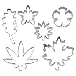 Ausstecher - Blüten & Blätter - Set, 6-teilig