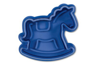 Cookie cutter with stamp and ejector - Rocking horse