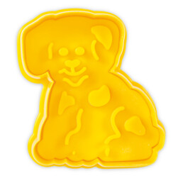 Cookie cutter with stamp and ejector - Dog