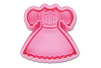 Cookie cutter with stamp and ejector - Dress