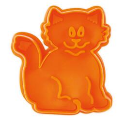 Präge-Ausstecher mit Auswerfer - Katze