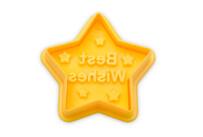 Präge-Ausstecher mit Auswerfer - Stern - Best Wishes