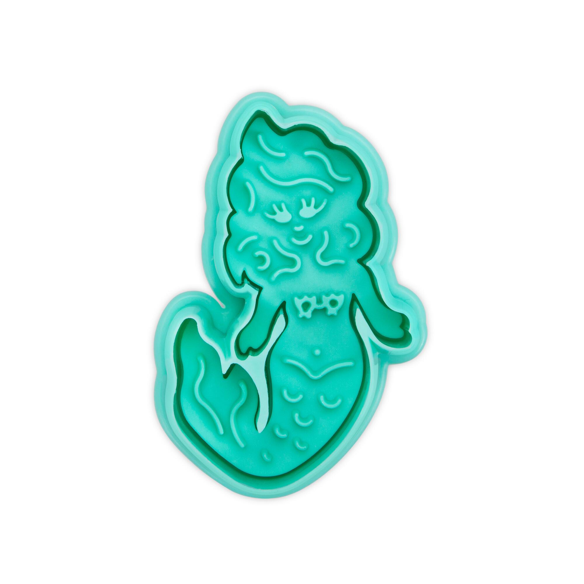 Präge-Ausstecher mit Auswerfer - Meerjungfrau