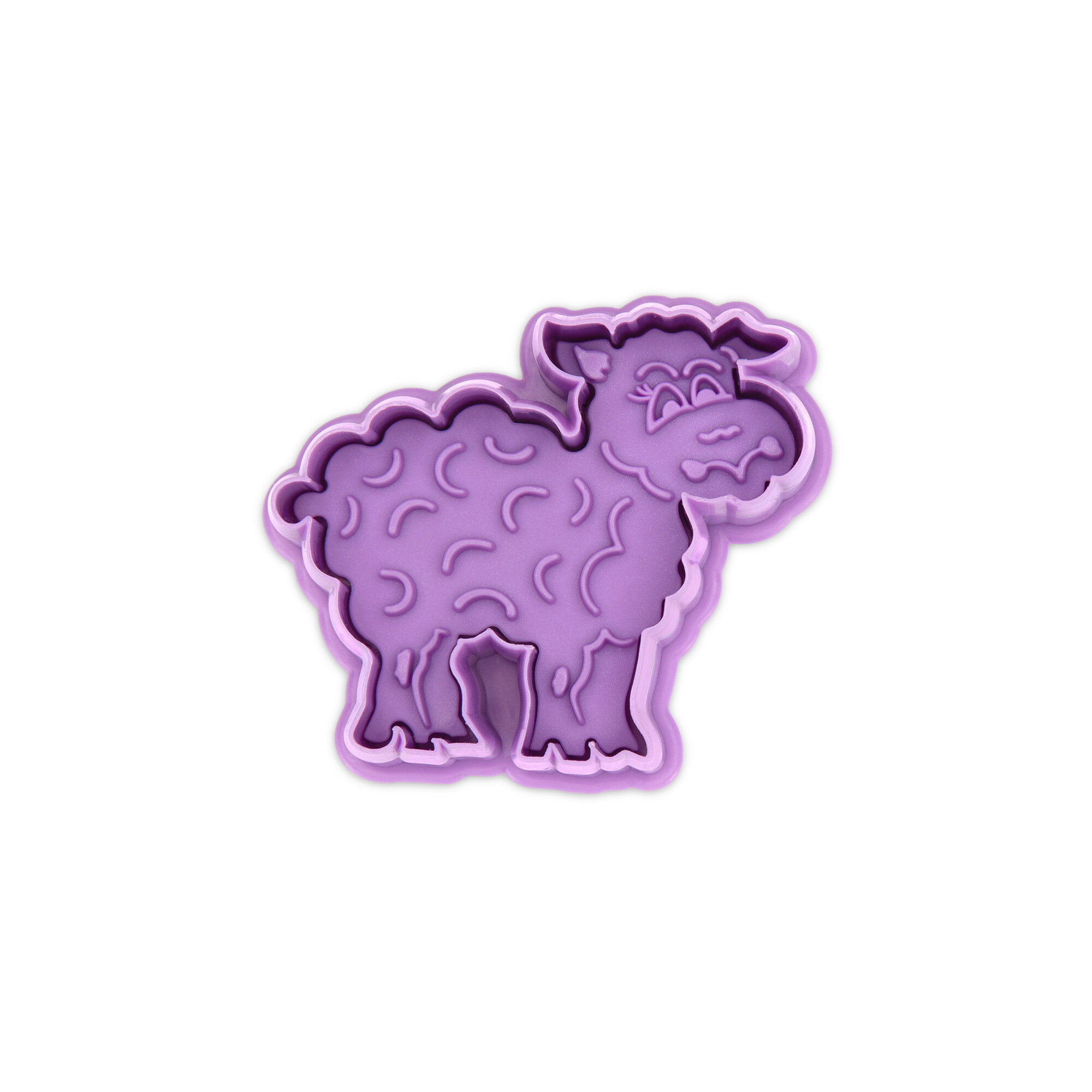 Cookie cutter with stamp and ejector - Sheep