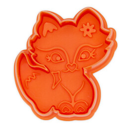 Cookie cutter with stamp and ejector - Fox