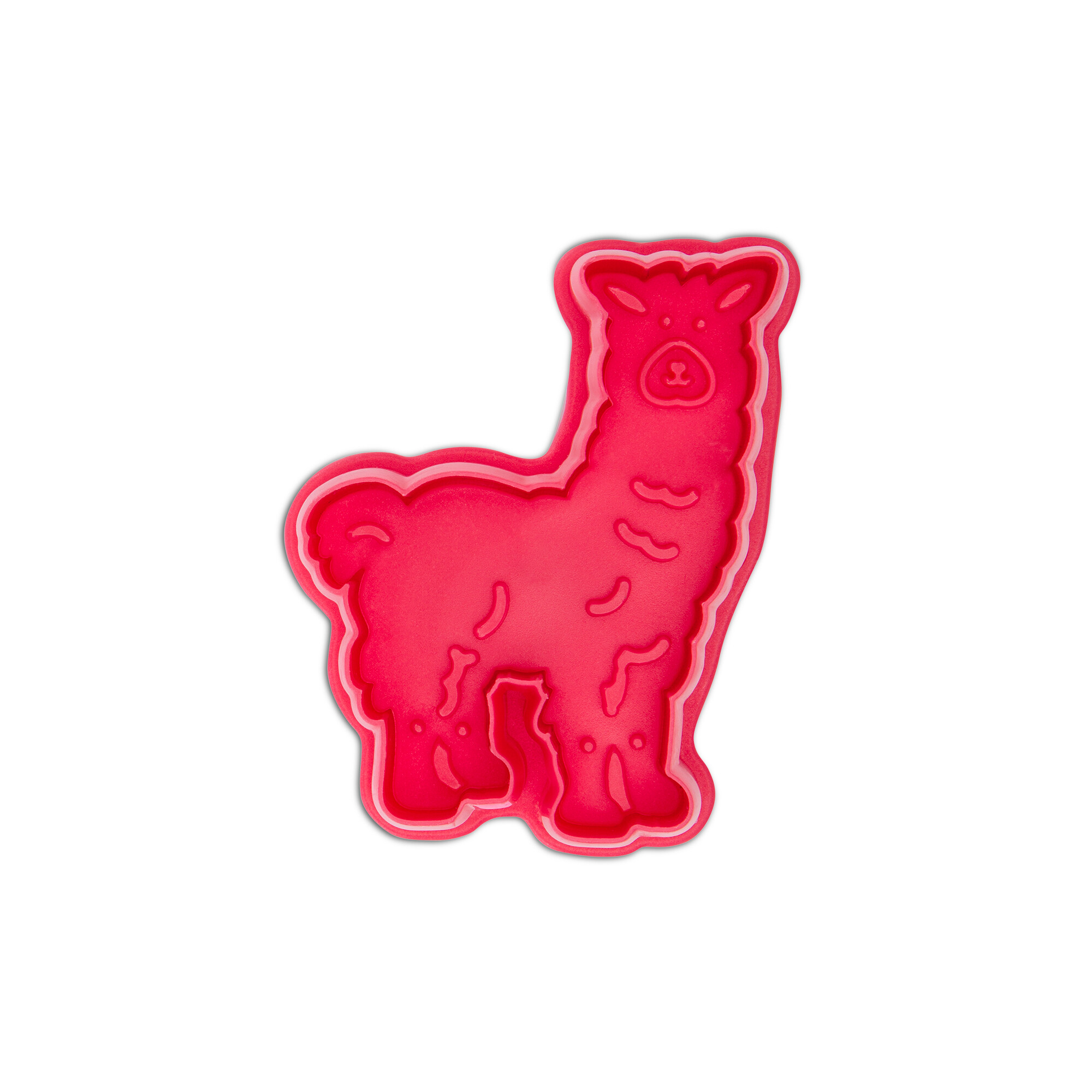 Cookie cutter with stamp and ejector - Lama