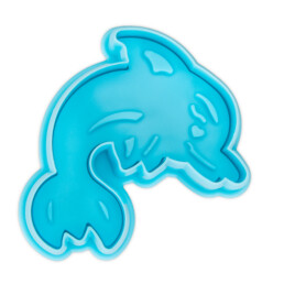 Cookie cutter with stamp and ejector - Dolphin