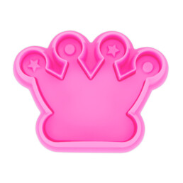 Cookie cutter with stamp and ejector - Crown